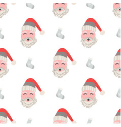 christmas patterns in scandinavian style for your vector image