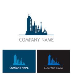 cityscape building company logo vector image