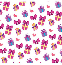 close presents gifts boxes background vector image