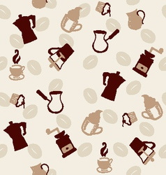 Coffee pattern doodle style vector