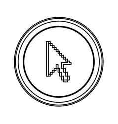contour emblem mouse cursor icon vector image