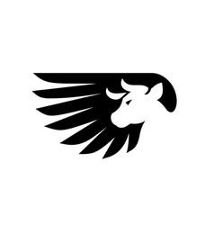 cow wing logo vector image