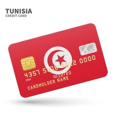 Credit card with Tunisia flag background for bank vector