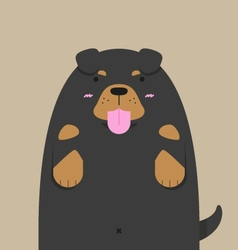 Cute big fat Rottweiler dog vector