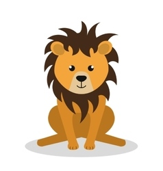 cute lion isolated icon design vector image