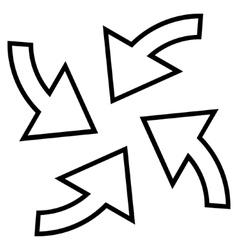 Cyclone Arrows Outline Icon vector