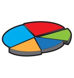 data pie chart vector image