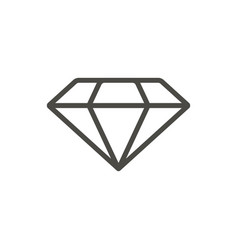 diamond icon line brilliant symbol vector image