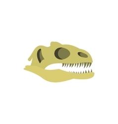 Dinosaur skull icon flat style vector