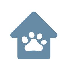Dog paw print icon vector