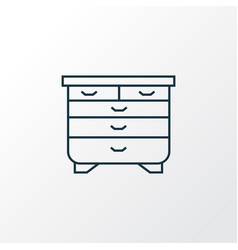 drawer unit icon line symbol premium quality vector image