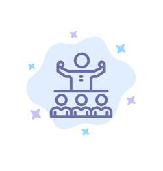 Encourage growth mentor mentorship team blue icon vector