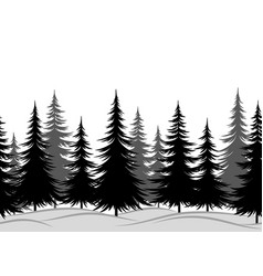 fir trees seamless landscape vector image