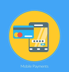 Flat design concept for Mobile Payments for vector