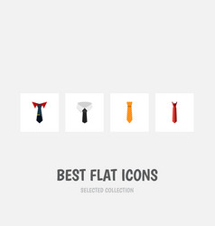 flat icon necktie set of textile clothing style vector image