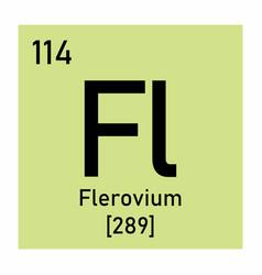 flerovium chemical symbol vector image