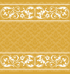 Floral pattern for invitation card vector