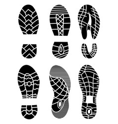 Footprint icons isolated on white background vector