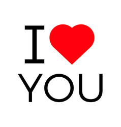 I love you popular symbol heart vector