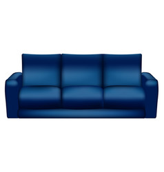 isolated blue sofa - vector image