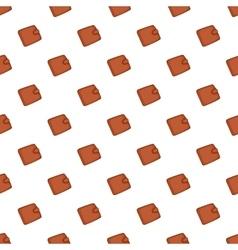 Leather purse pattern cartoon style vector