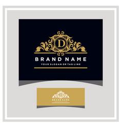 Letter d logo design concept royal luxury gold vector