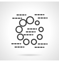 Loading sign black simple line icon vector image
