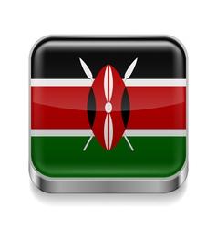 Metal icon of Kenya vector