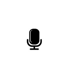 microphone icon black colored on a white vector image