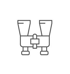 modern binoculars line outline icon vector image