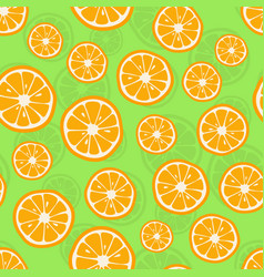 oranges seamless pattern citrus background with vector image