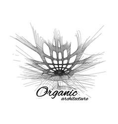 Organic architecture concept unity vector