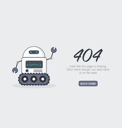 Page not found error 404 template vector