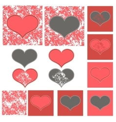 Pink and gray Valentine vector