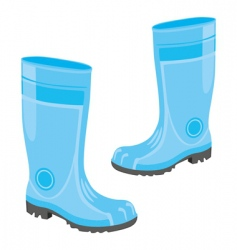 rubber boots vector image