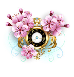 Sakura watch vector