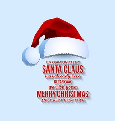 Santa Claus card vector