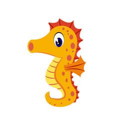 seahorse cartoon or clipart cartoon vector image