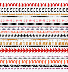 seamless ethnic folk pattern handmade vector image