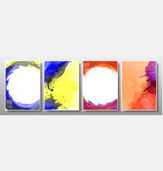 set background splash watercolor bright vector image