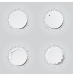 Set of volume buttons vector