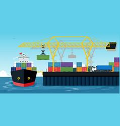Shipping ports vector