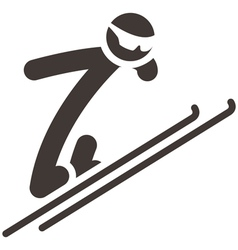 Ski jumping icon vector