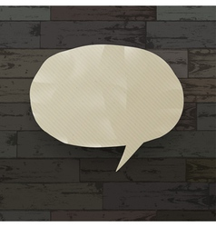 speech bubble on wooden texture vector image