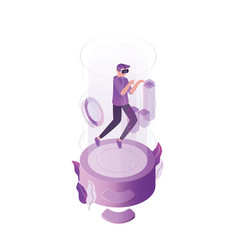 virtual reality flat online vector image