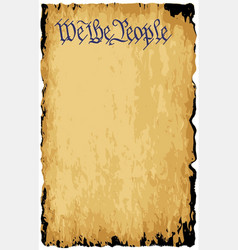 We the people old paper background vector