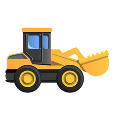 wheel excavator icon cartoon style vector image