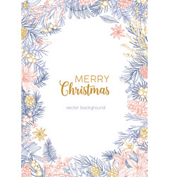 Winter backdrop decorated merry christmas wish vector