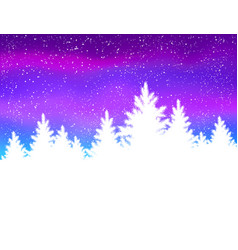 Winter spruce forest vector