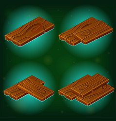wood game icon on green background vector image